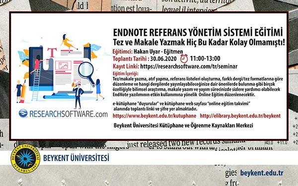 endnote-referans-yonetim